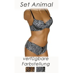 Set Animal - schwarz grau